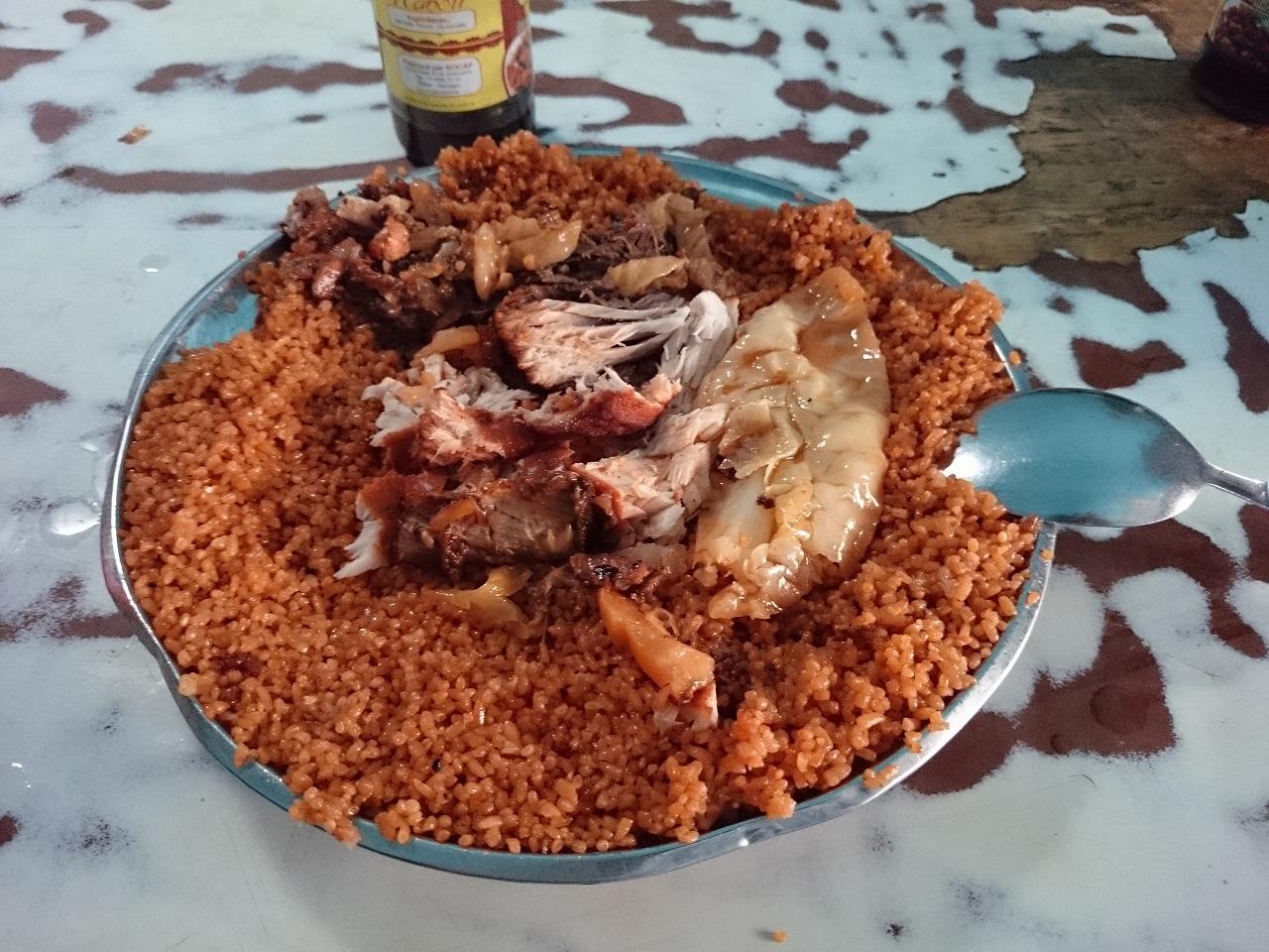 セネガル家庭料理 チェプジェンとドモダ