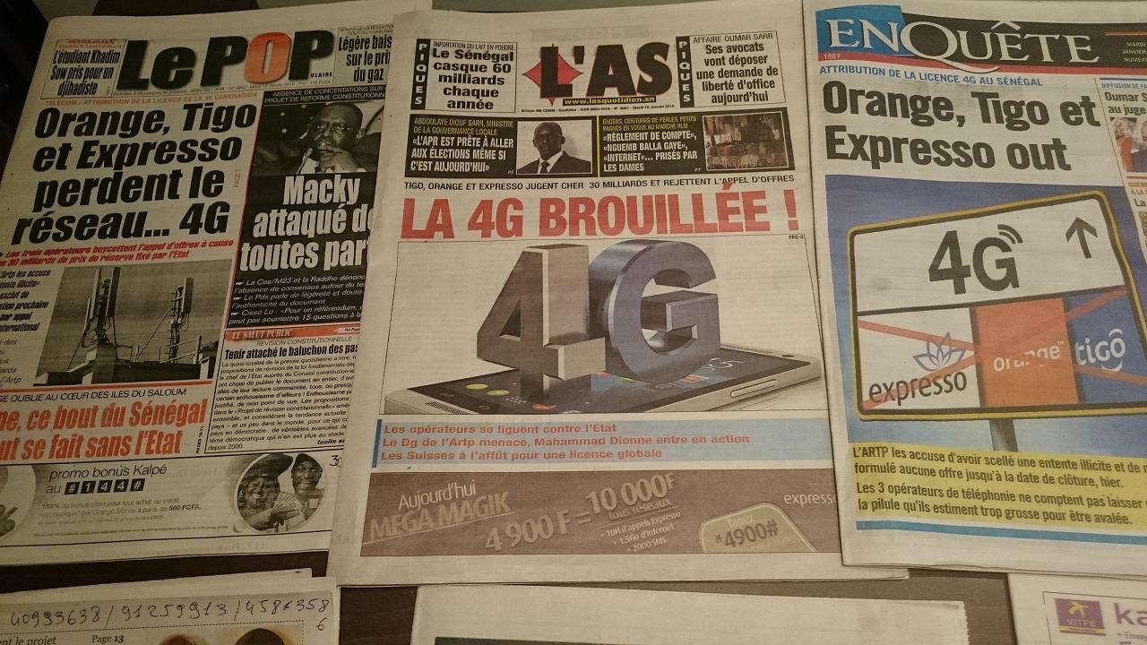 セネガル、インターネット4G回線断念!?家庭用最速はADSL10MB