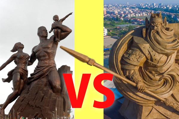 関羽の巨大銅像出現!アフリカの世界一の銅像と比較