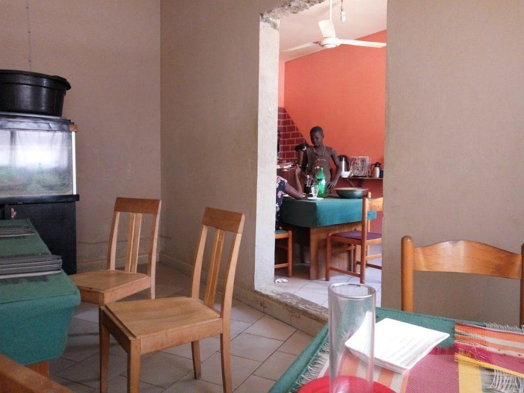 レストラン内。快適空間